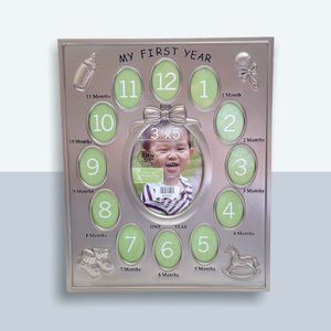 """Green Tree Gallery NWT Baby """"My First Year"""" Frame"""